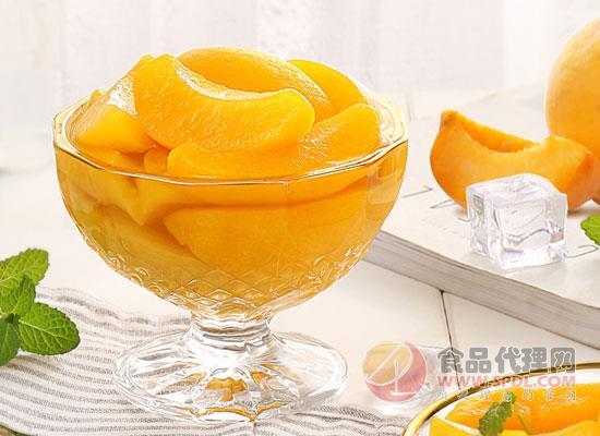 百草味黄桃罐头图片
