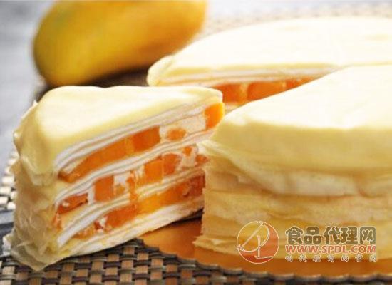 乐斯蓝莓千层蛋糕美味食品