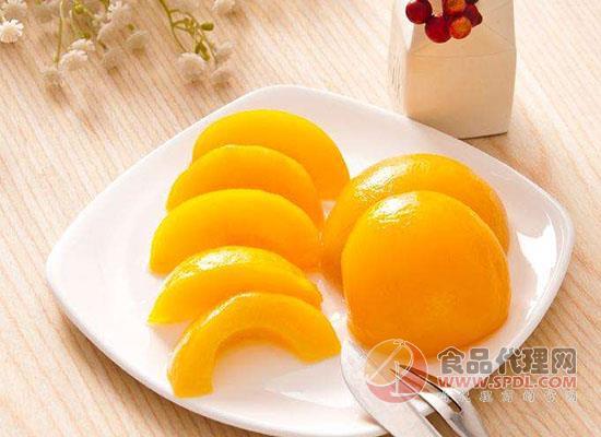 黄桃罐头食品