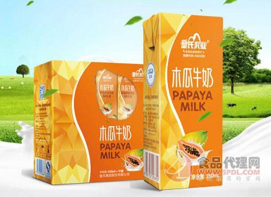 皇氏乳业木瓜牛奶