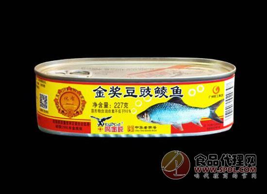鷹金錢豆豉鯪魚罐頭食品