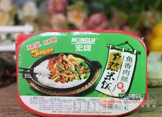 宏绿推出新品粗粮米饭,共有两种口味可选