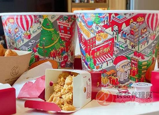肯德基圣诞版本的炸鸡桶