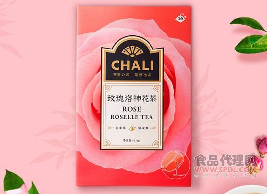 茶里玫瑰洛神花茶