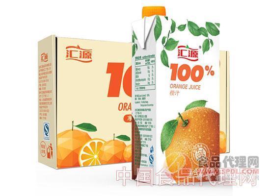 汇源果汁100%橙汁1L*5盒