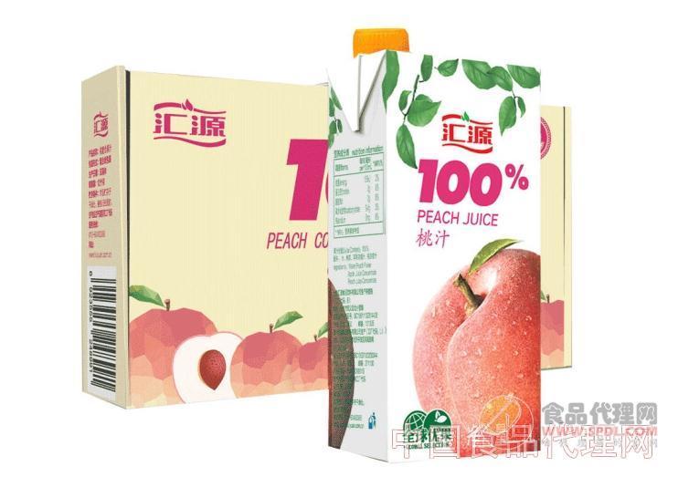 汇源果汁100%桃汁 1L*5盒