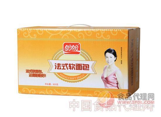 盼盼法式软面包820g奶香味整箱装