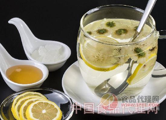 菊花柠檬茶