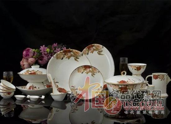 彩陶瓷餐具