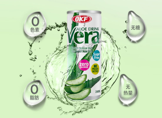健康饮料好选择,韩国进口OKF芦荟饮料价格多少?