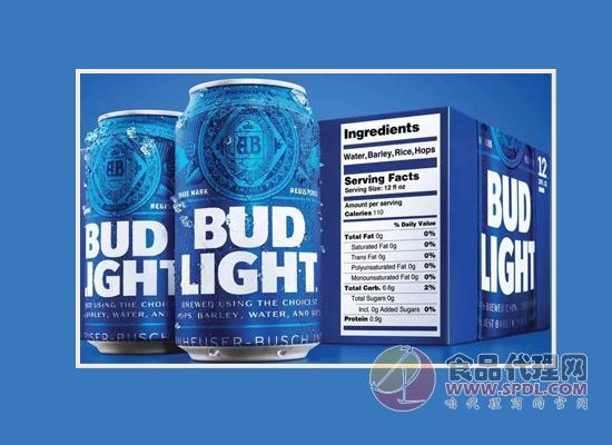 为满足消费者需求,百威在英国推出带营养标签的淡啤!