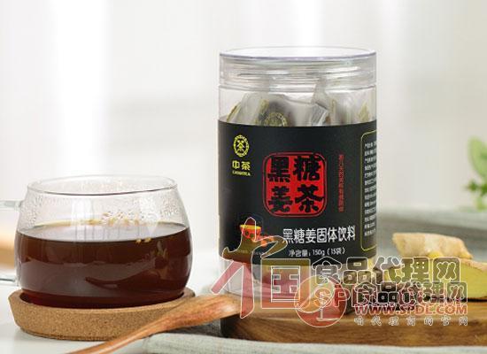 中茶中粮中茶黑糖姜茶