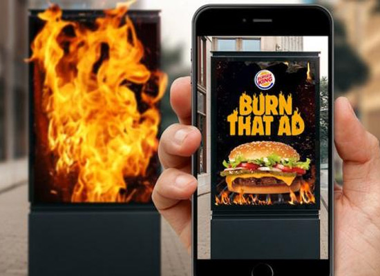 汉堡王玩火梗再度来袭,只要烧掉那个广告就能领皇堡!