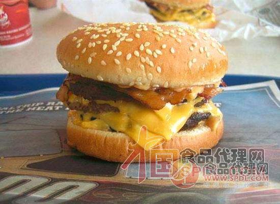 人造肉汉堡图片