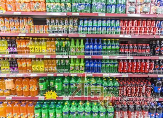 碳酸饮料陈列图片