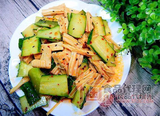 黄瓜凉拌腐竹图片