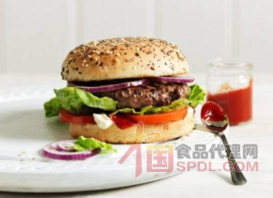 人造素肉汉堡图片