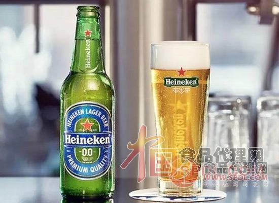 喜力0.0无酒精啤酒图片