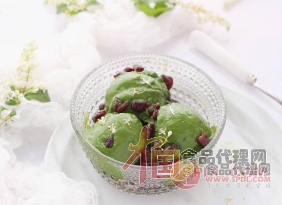 抹茶冰淇淋图片