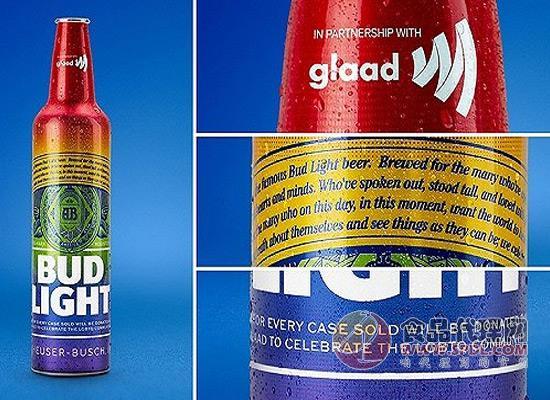 同志骄傲月来袭,百威推出彩虹瓶淡啤来庆祝!