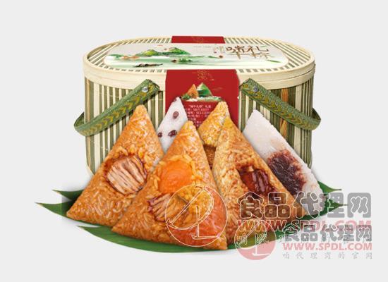 味禧魔方竹籃粽子禮盒圖片