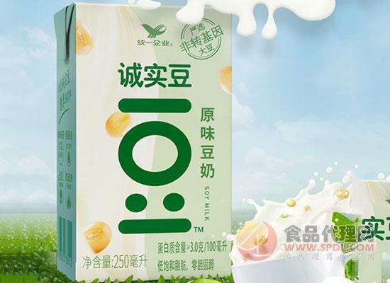 诚实豆原味豆奶价格是多少?统一诚实豆,营养轻负担