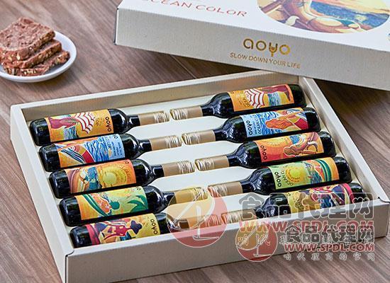 傲魚智利梅洛甜紅葡萄酒圖片