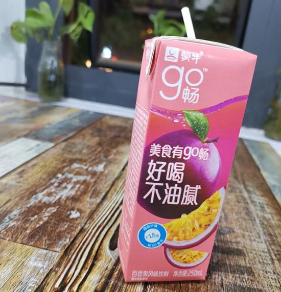 蒙牛新推go畅百香果风味饮料,引领饮品市场热潮