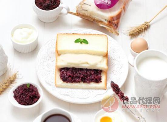 玛呖德全麦夹心奶酪紫米面包110g价格是多少,营养早餐好选择