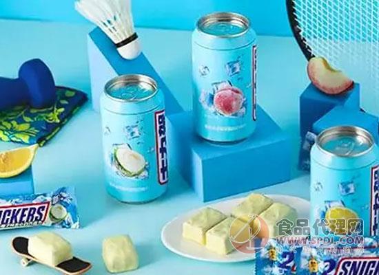 玛氏集团推出蓝色罐装士力架,外观很像饮料