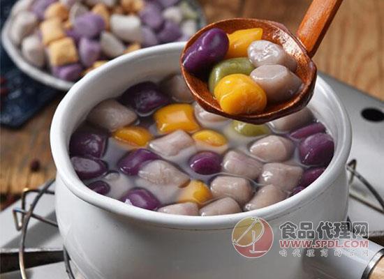 圣王鲜芋仙大芋圆奶茶价格是多少,色彩斑斓粒粒好吃