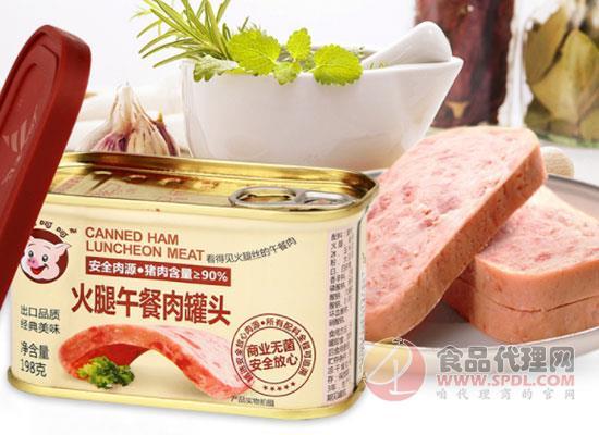 小猪呵呵午餐肉罐头价格是多少,看得见的肉丝