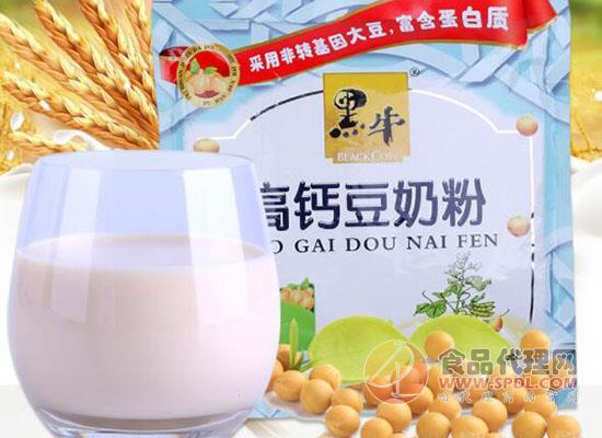 黑牛早餐豆奶粉價格是多少,營養豆奶早餐必備