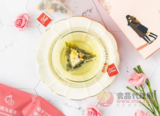 茶談印月蜜桃烏龍茶45g價格是多少,茶湯明亮清澈