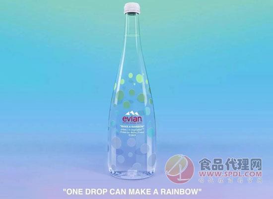 依云宣布与Virgil Abloh联手,推出彩虹水滴限量瓶