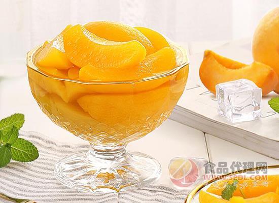 黃桃罐頭哪個牌子好,百草味黃桃罐頭清潤爽口