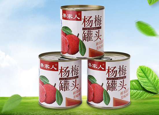 果家人杨梅罐头味道如何,酸甜多汁鲜嫩爽口