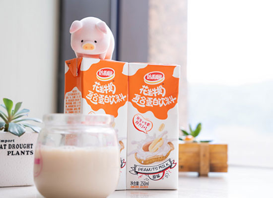 達利園花生牛奶飲料好在哪里,含有濃濃的花生味
