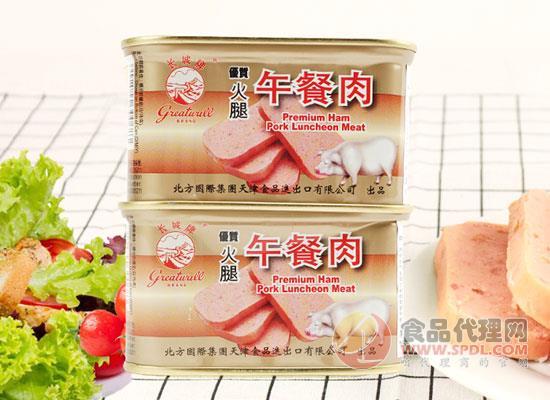 長城午餐肉罐頭價格是多少,煎炸炒菜別有風味