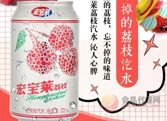 宏宝莱荔枝味汽水价格是多少,夏季囤货必备之品
