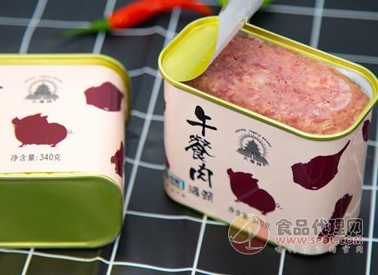天坛午餐肉罐头好吃吗,高达96%的含肉量