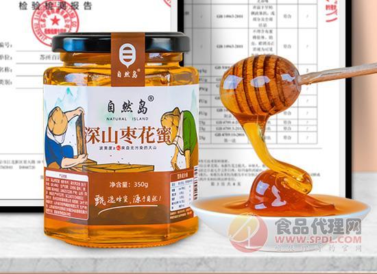 自然島棗花蜂蜜怎么樣,蜜汁透明有光澤