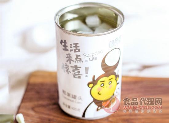 味品堂椰果罐头价格,富含真实椰果果肉
