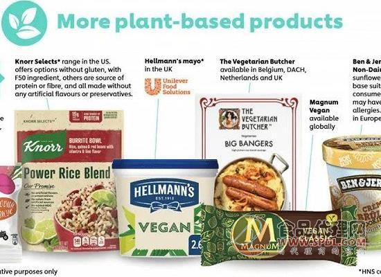 聯合利華宣布,未來5-7年內將植物基業務提高5倍
