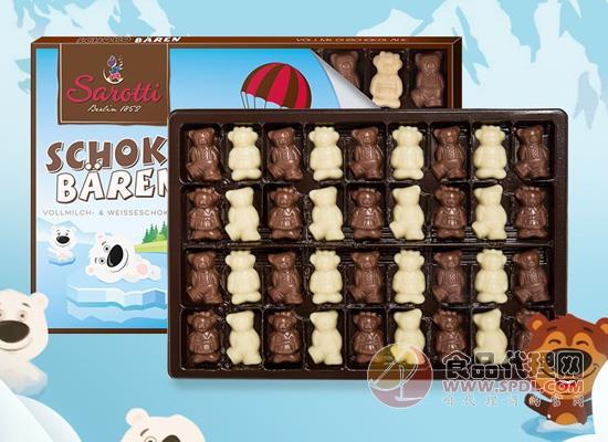 萨洛缇小熊牛奶巧克力多少钱,黑白熊可爱造型