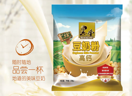 黑牛高钙豆奶粉价格,随时随地就能喝的豆奶粉
