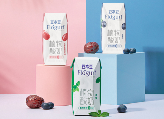 簽約代言人王源,達利正式推出豆本豆植物酸奶