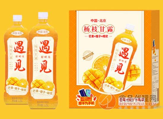 遇见好时光杨枝甘露复合果汁,有果肉的果汁
