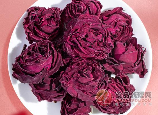 福茗源墨红玫瑰玫瑰花茶,好看又好喝