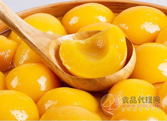 真心黄桃罐头好在哪里,鲜嫩多汁,风味十足